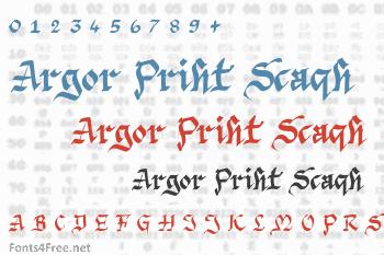 Argor Priht Scaqh Font