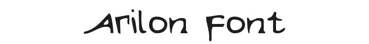 Arilon Font Preview