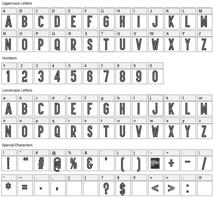 Ariq Font Character Map