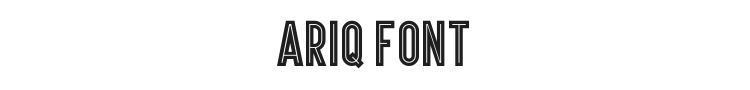 Ariq Font Preview