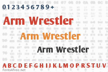 Arm Wrestler Font
