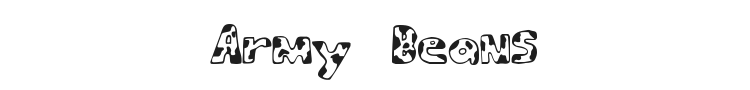 Army Beans Font