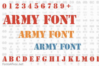 Army Font Download - Fonts4Free