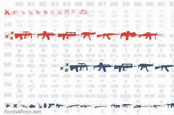 Army Weapons Font