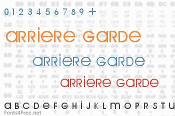 Arriere Garde Font