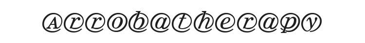 Arrobatherapy Font Preview