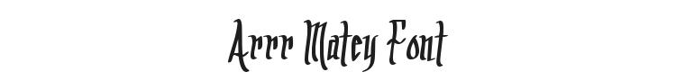 Arrr Matey Font Preview