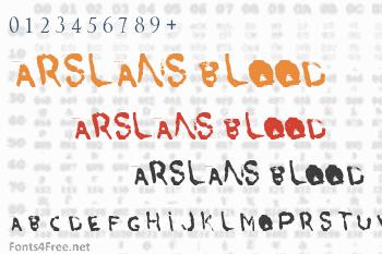 Arslans Blood Font