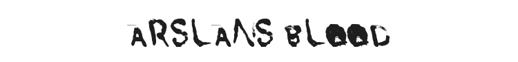 Arslans Blood Font Preview