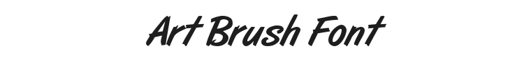 Art Brush Font Preview