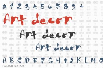 Art decor Font