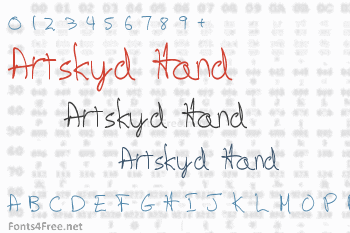 Artskyd Hand Font
