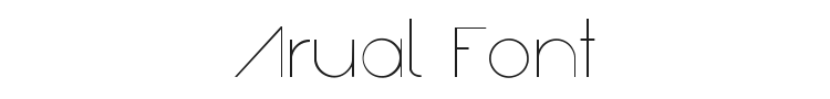 Arual Font Preview