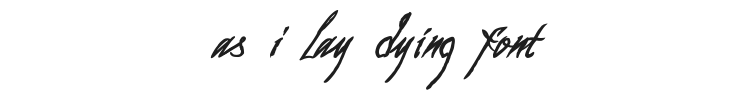 As I Lay Dying Font Preview