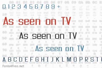 As seen on TV Font