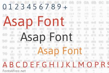Asap Font