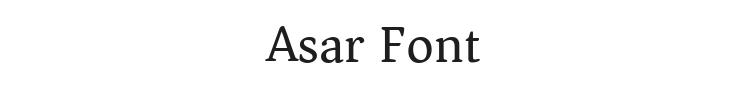 Asar Font