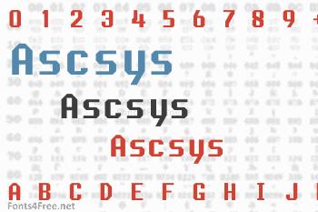 Ascsys Font