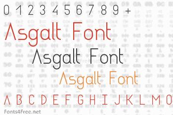 Asgalt Font