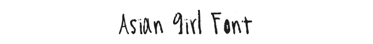 Asian Girl Font Preview