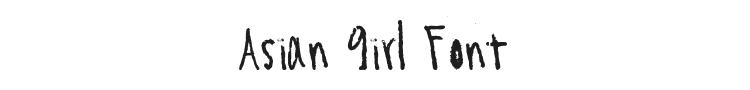 Asian Girl Font
