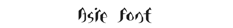 Asie Font Preview