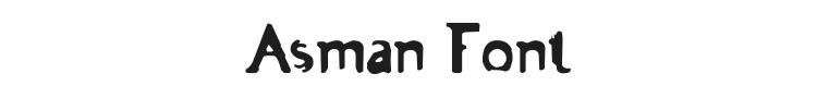 Asman Font Preview