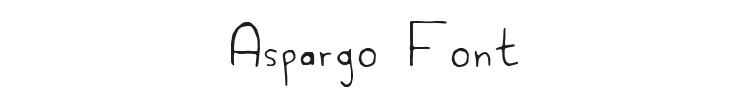 Aspargo Font Preview