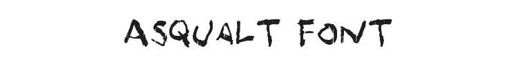 Asqualt Font