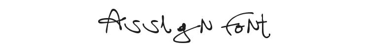 Assign Font