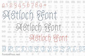Astloch Font