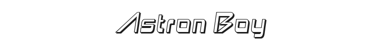 Astron Boy Font Preview
