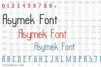Asymek Font
