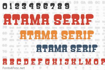 Atama Serif Font