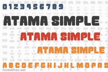 Atama Simple Font