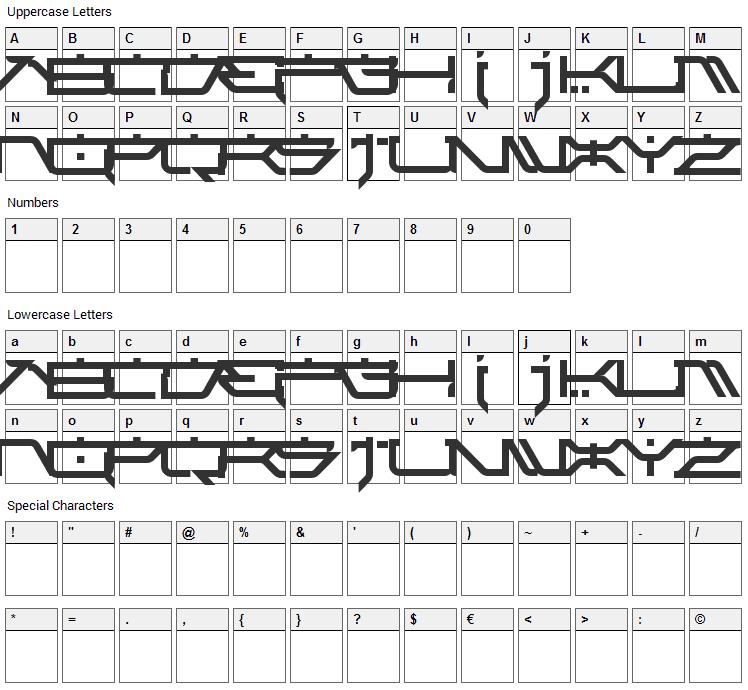 Atari Kids Font Character Map