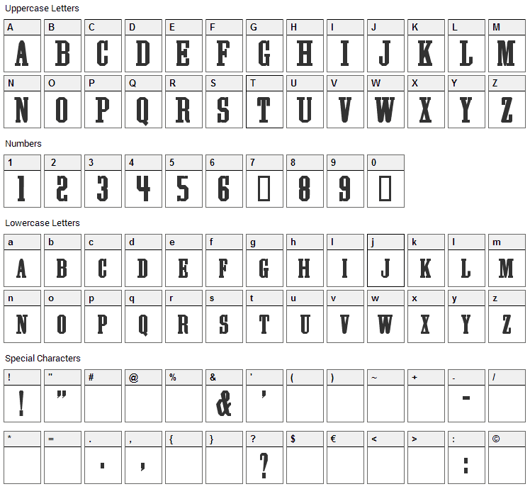 Athletic Supporter Font Character Map