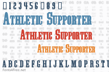 Athletic Supporter Font