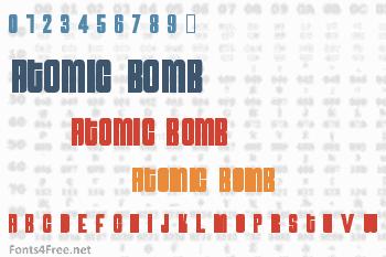 Atomic Bomb Font