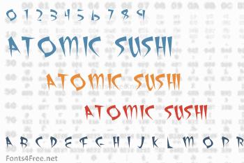 Atomic Sushi Font