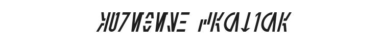 Aurebesh Cantina Font Preview