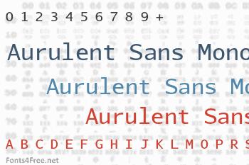 Aurulent Sans Mono Font