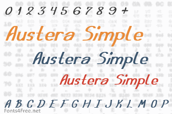 Austera Simple Font