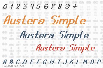 Austera Simple Font