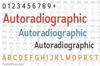 Autoradiographic Font