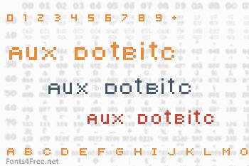 Aux DotBitC Font