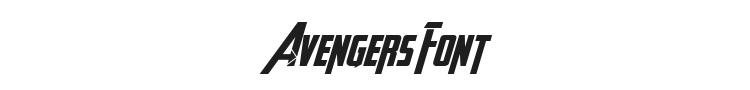 Avengeance Heroic Avenger Font Preview