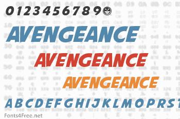 Avengeance Mightiest Avenger Font