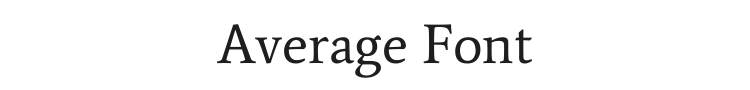 Average Font Preview