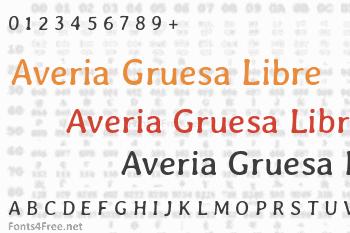 Averia Gruesa Libre Font